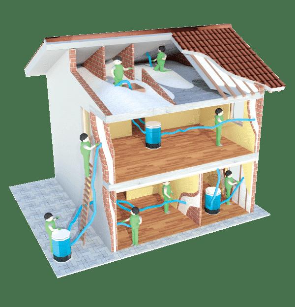 Insufflaggio Residenziale, isolare intercapedini, isolare pareti e sottotetti