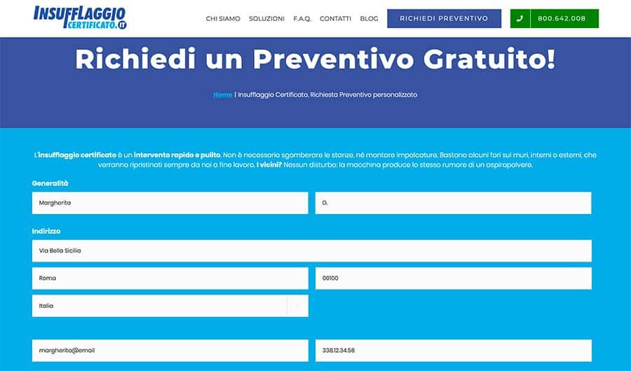Il documento di preventivo per la detrazione fiscale 65% per lavori di Insufflaggio Certificato
