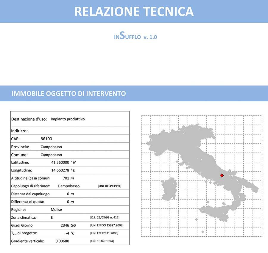 Insufflaggio Certificato di un capannone: i risultati della progettazione - 1
