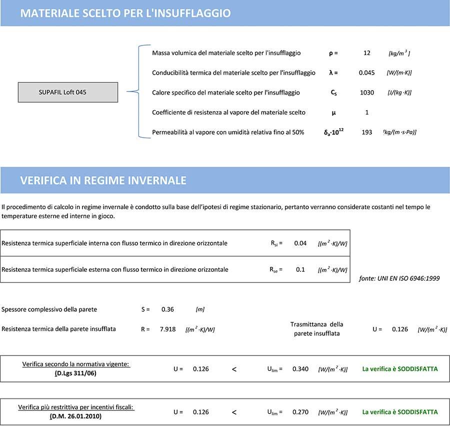 Insufflaggio Certificato di un capannone: i risultati della progettazione - 3